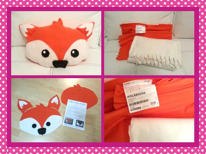 Ikea Schminktisch Schreibtisch ~ Mein Kuschel Fuchs besteht aus zwei Ikea Fleece Decken (Polarvide, je